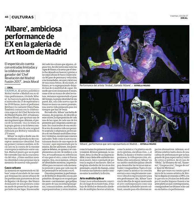 Prensa relacionada con la performance ¬ ALBARE