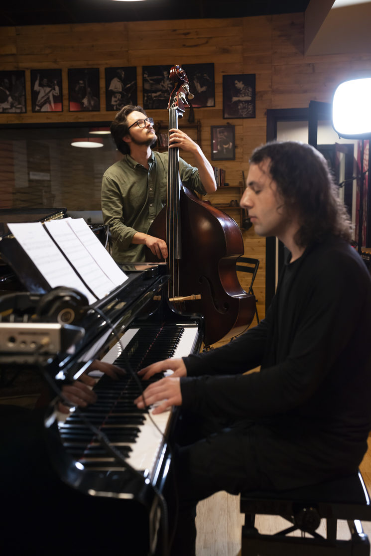 Recording Session at Jazztone Studios Valencia, Spain. P.C. Tato Baeza