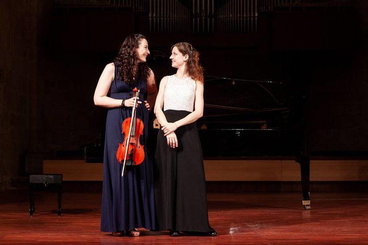 Zaphyre Duo, Sara Martínez (viola) y Lucia Brighenti (piano)
