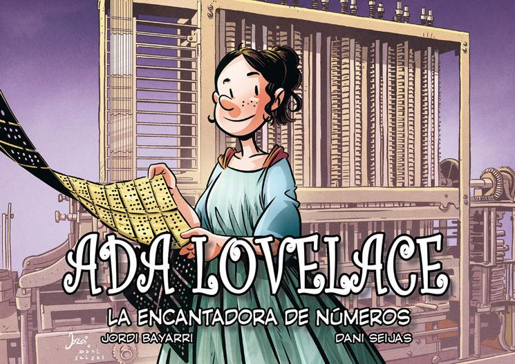 "Portada de ""Ada Lovelace, la encantadora de números""."