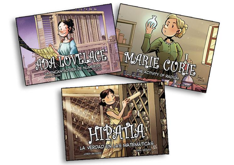 Pack de cómics sobre mujeres científicas.