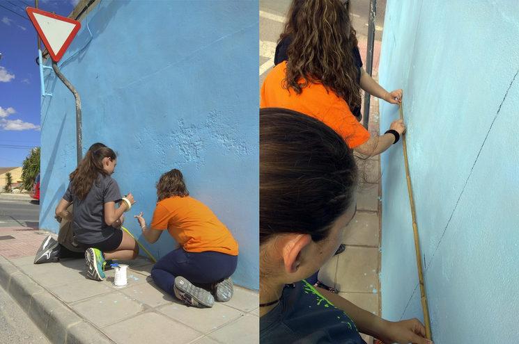 Día 2: Marcamos la cuadrícula en la superficie