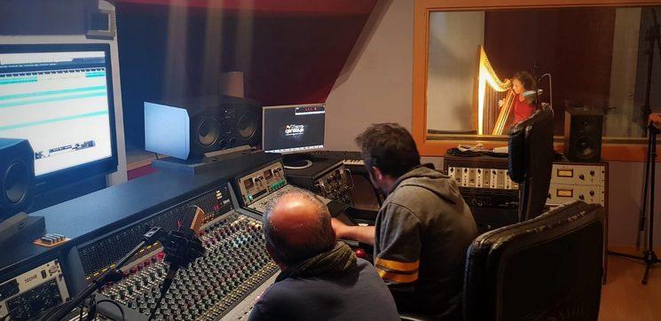David Marco en la grabación