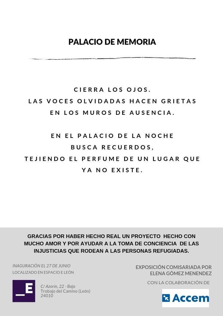 """Poema """" Palacio de Memoria """""""
