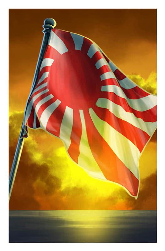 Un sol naciente para el dorso del mazo de eventos japoneses