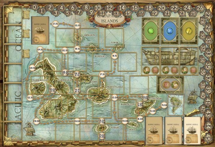 Imagen provisional del tablero de juego ilustrado por Amelia Sales