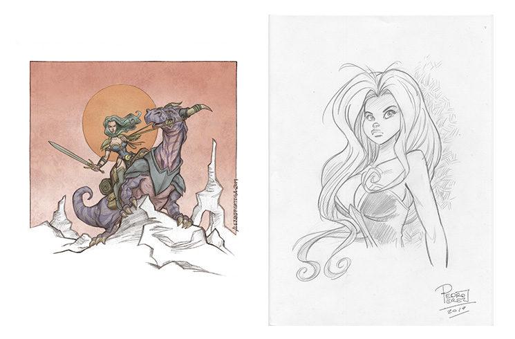 Ilustraciones extra de Alejandro Ortega y Pedro Pérez.