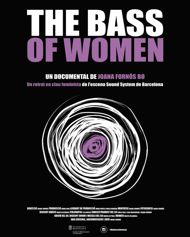 "Poster ""The Bass of Women"" diseñado por Marta Olivares"