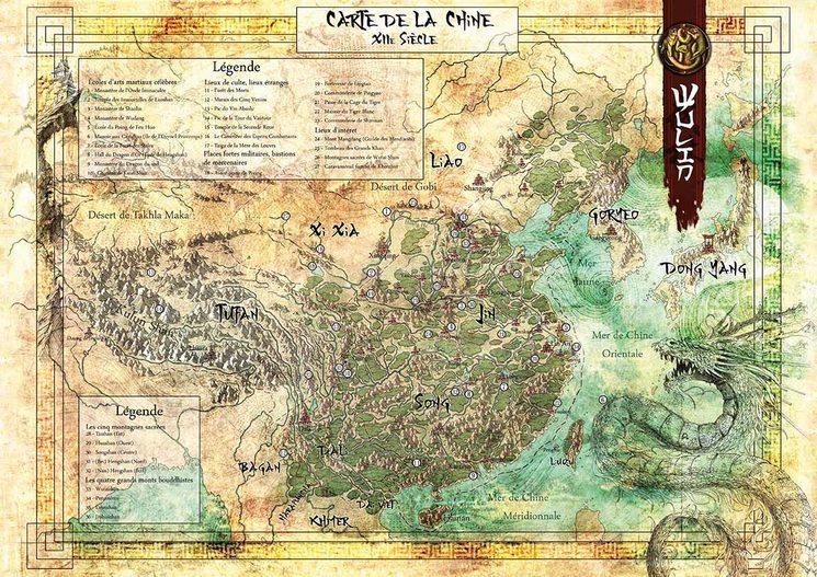 Mapa del mundo de Wulin