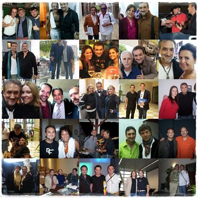 Con algunos de los cientos de artistas con los que me he cruzado en el camino