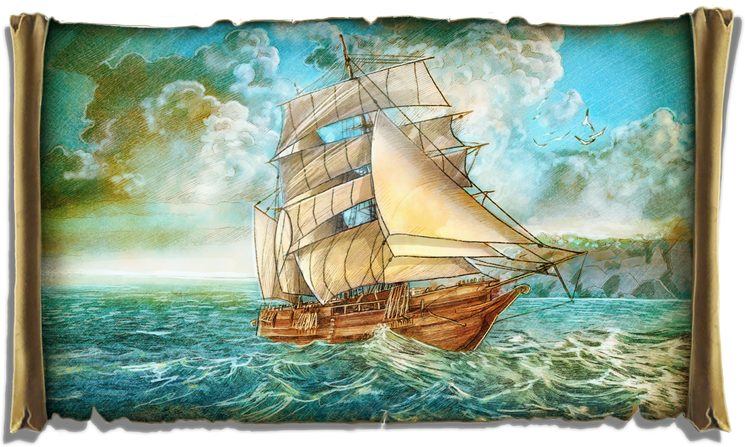 El Beagle llegando a la isla de Isabela.