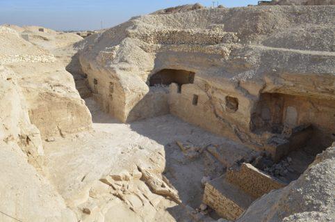 Vista de la tumba del Visir Amen-Hotep Huy. <br/>  Proyectovisiramenhotephuy©IEAE