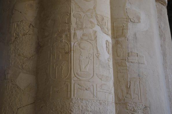 Inscripciones de Amen-Hotep III, localizadas en 2013. Proyectovisiramenhotephuy©IEAE