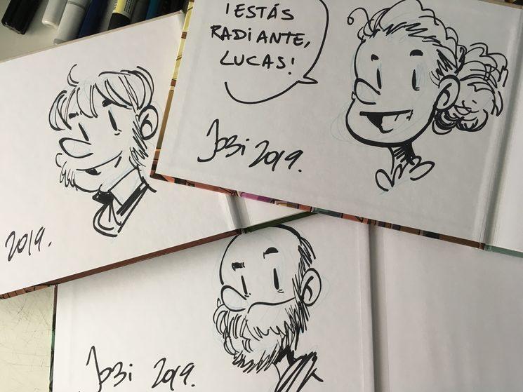 Dedicatorias de otros cómics.