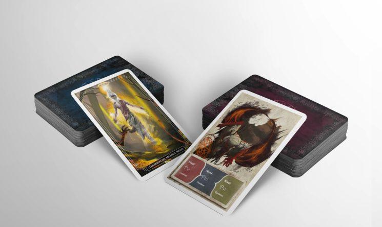 Mockup de las Cartas de Hechizo y Monstruo. Diseño no definitivo.