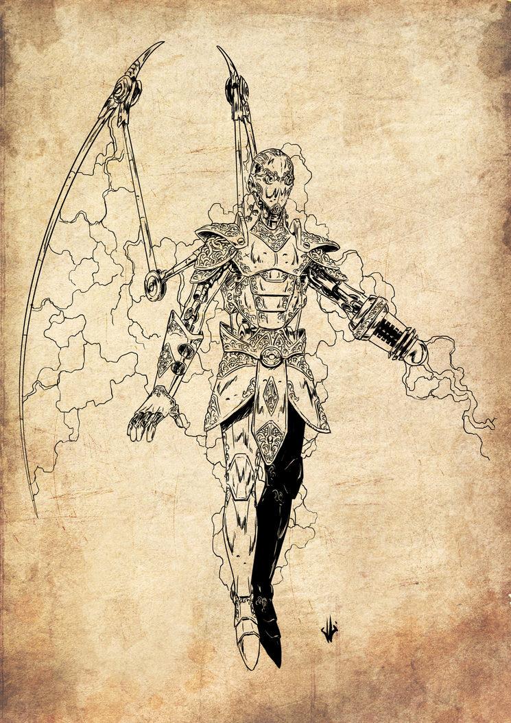 Guardian Tesla, ilustrado por Jagoba Leukona