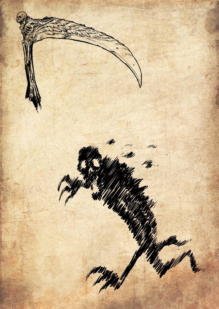 Guadaña y alma de la Banshee, ilustrados por Jagoba Leukona