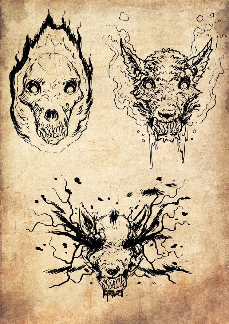 Las 3 cabezas de Cerbero, ilustradas por Jagoba Leukona