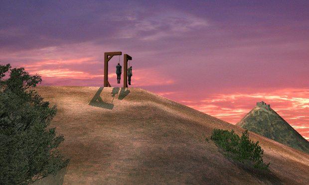 Forques del castell de Burriac al turó de l