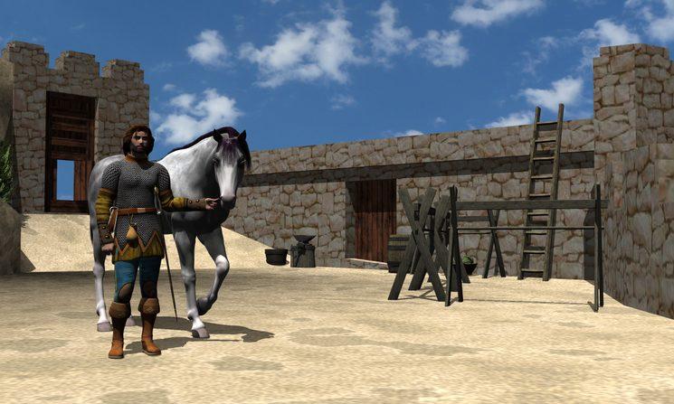 Magatzems i quadres del castell, restitució 3D