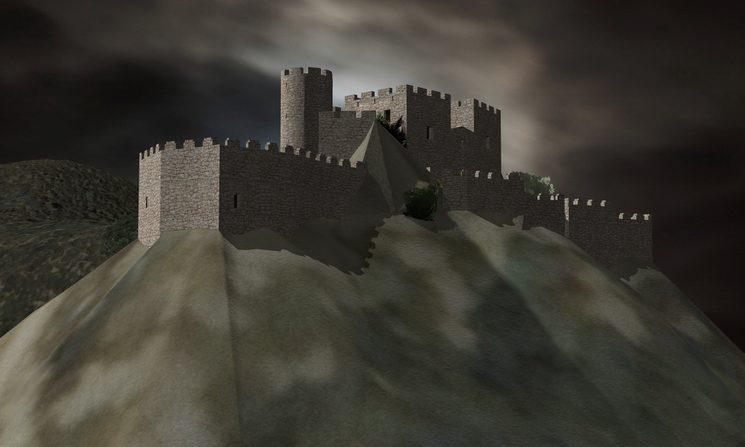 Simulació del Castell en temps de Pere Joan Ferrer al serle XV