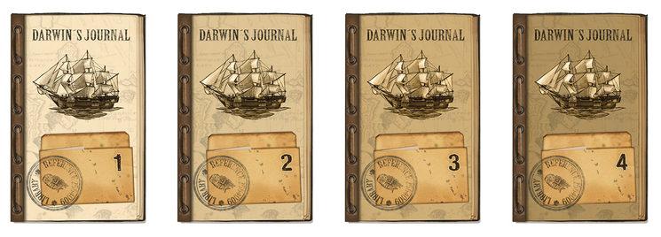 Parte trasera de las cartas del diario de Darwin