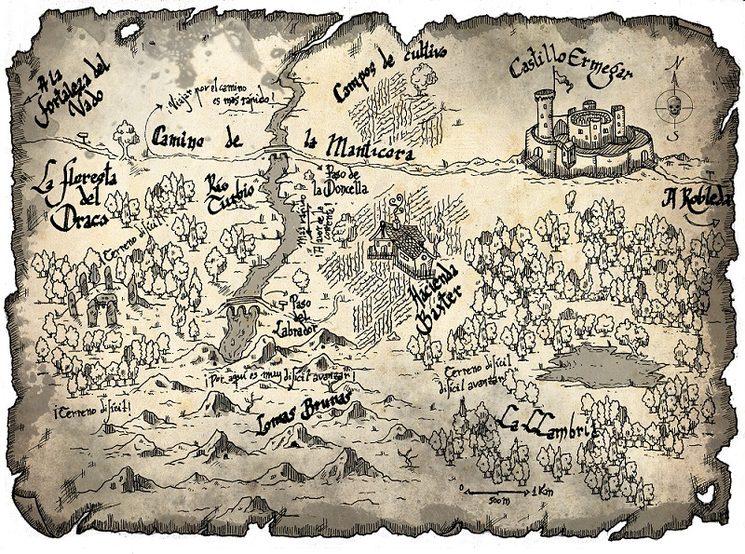 Uno de los mapas incluidos en Pacto de Cenizas
