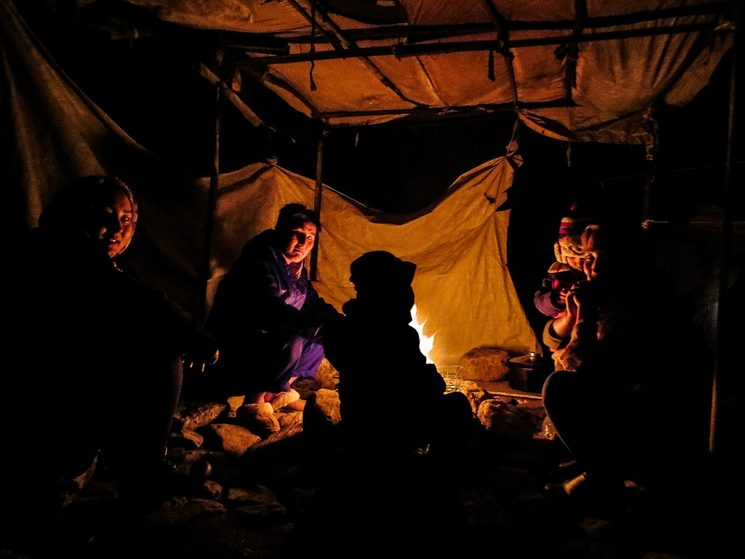 Fotografía de Zahra en el campo de refugiados de Moria, Lesbos