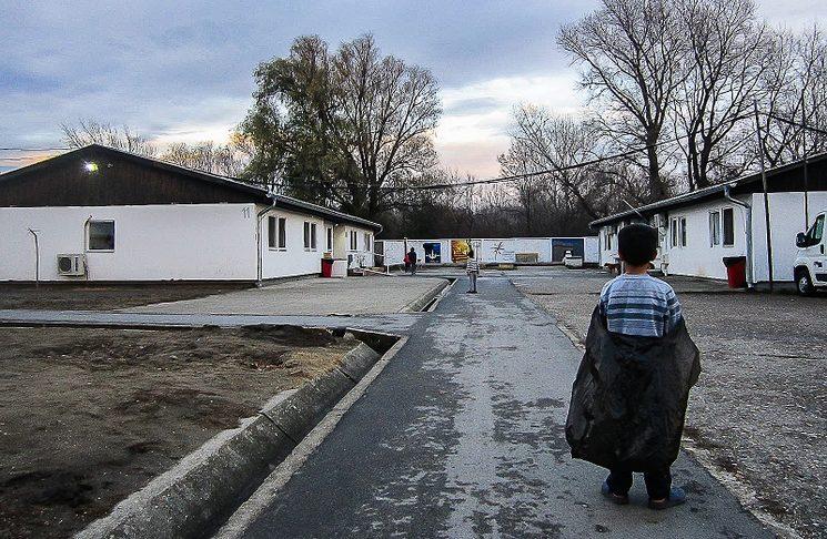 Fotografía de Sami en el campo de refugiados de Krnaja, Belgrado