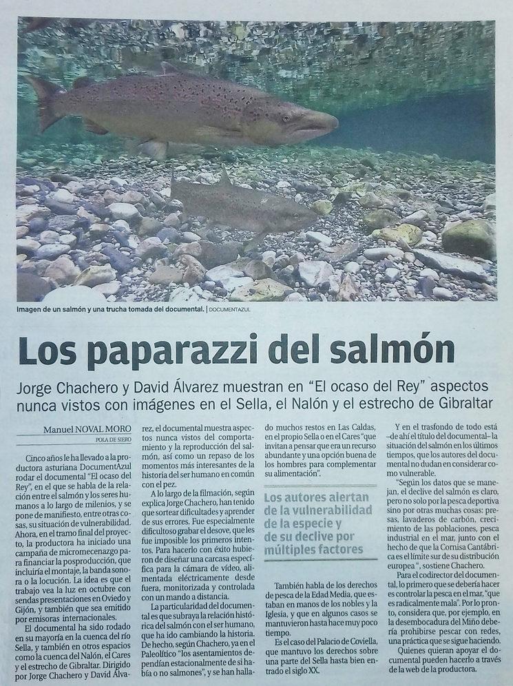 Artículo en el diario La Nueva España del 13 de junio de 2019