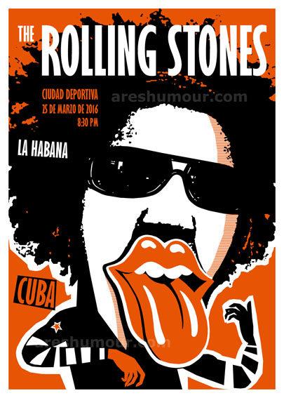 Cartel concierto de los Stones en La Habana