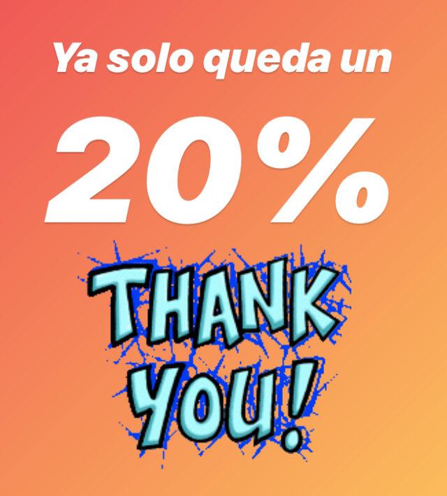 !Llevamos un 80%¡