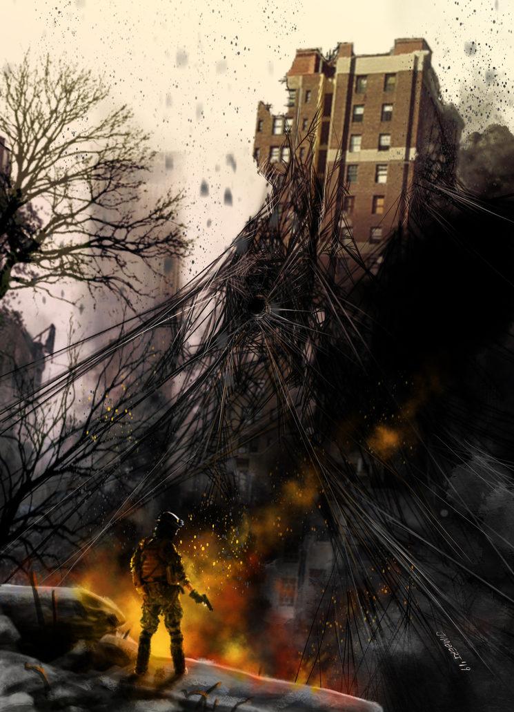 Guerra urbana. Ilustración de Daniel Jimbert