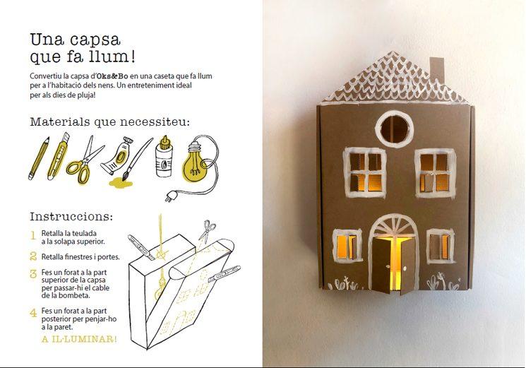 Modelo de instrucciones para transformar la caja