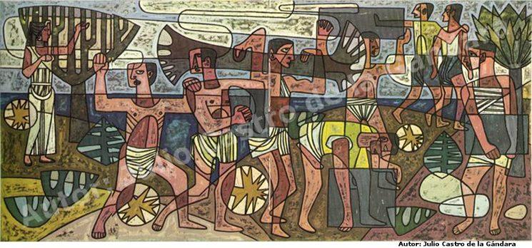Hésperis despide a sus hijos los Atlantes  Autor: Julio Castro de la Gándara.