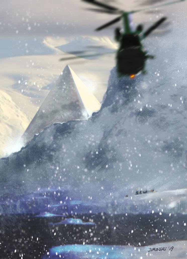 La pirámide en el hielo. Ilustración de Daniel Jimbert.