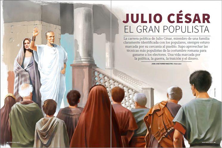 Nos encantan las ilustraciones históricas. En el primer número contamos con el trabajo de José Antonio Peñas.