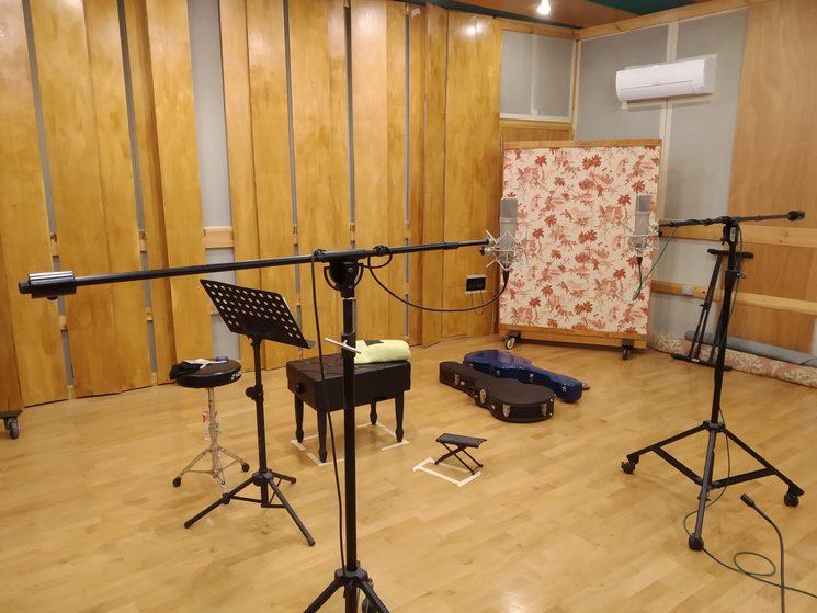 Una parte del estudio de grabación
