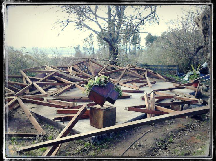 Consecuencias catastróficas de un domo que no se ancló a la base