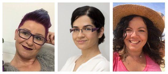 De izquierda a derecha, Ascensión, Eva y Silvia