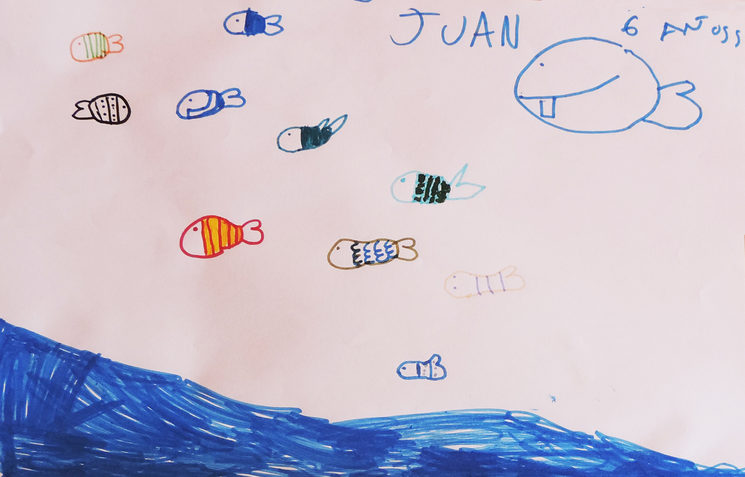 A world under the sea,Juan, 6 años