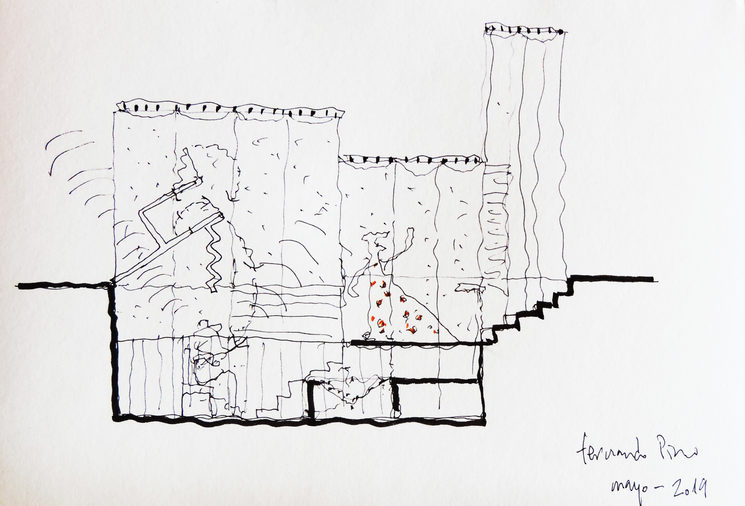 A magnetic house underground for a flamenco family