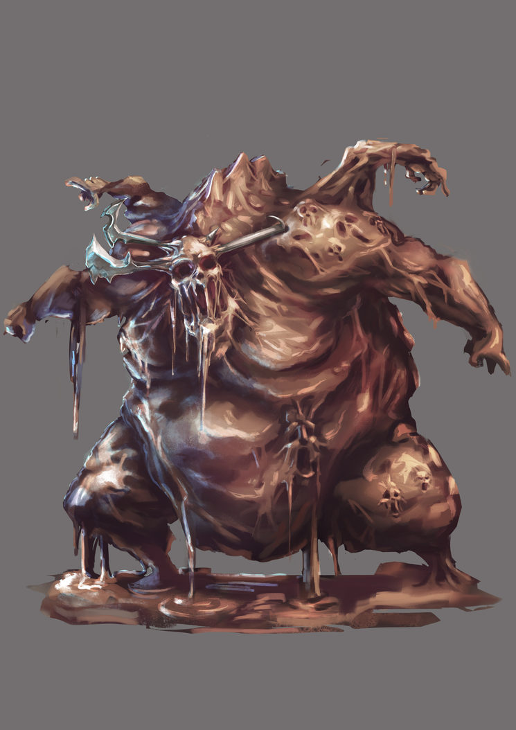 Ciacco, demonio de la gula, por Fez Monkey