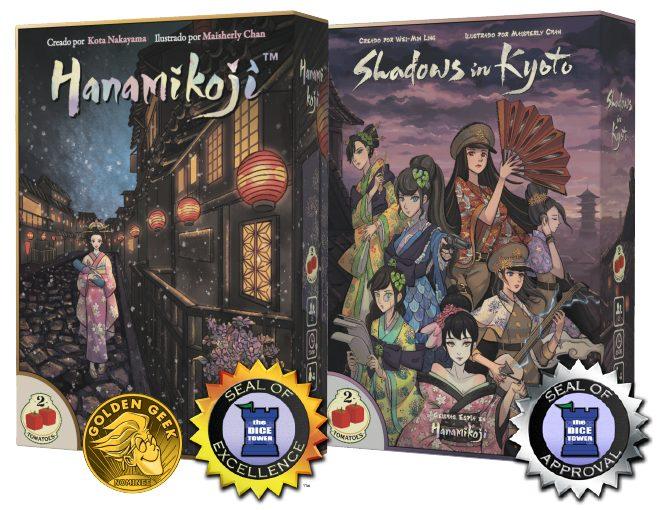 Nuevos juegos - Hanamikoji y Shadows of Kyoto