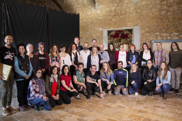 Xeitu en el estudio de grabación Ovni Estudio (Bonielles, Llanera, Asturies)