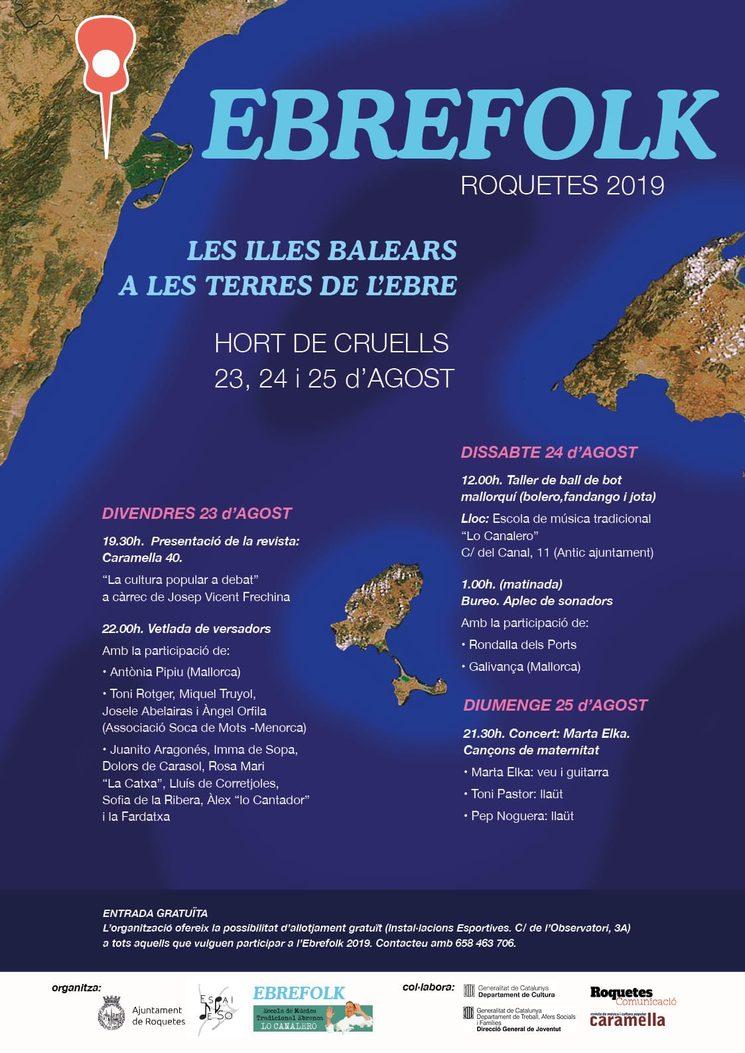 23 d'agost, serem a Roquetes (Baix Ebre), a l'Ebrefolk