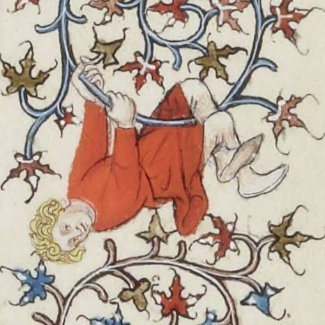 The first acrobat, XV century