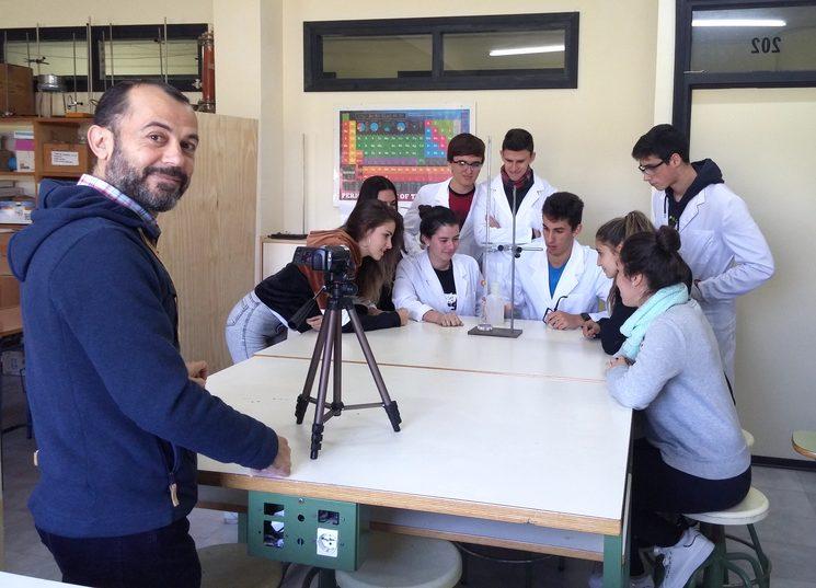 Momento de grabación del proyecto Ciencia Solidaria.