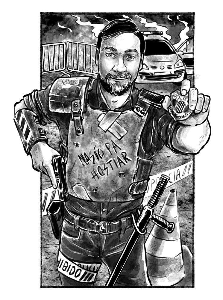 Miembro de las Fuerzas de Seguridad del estado, por Imanol Etxeberría