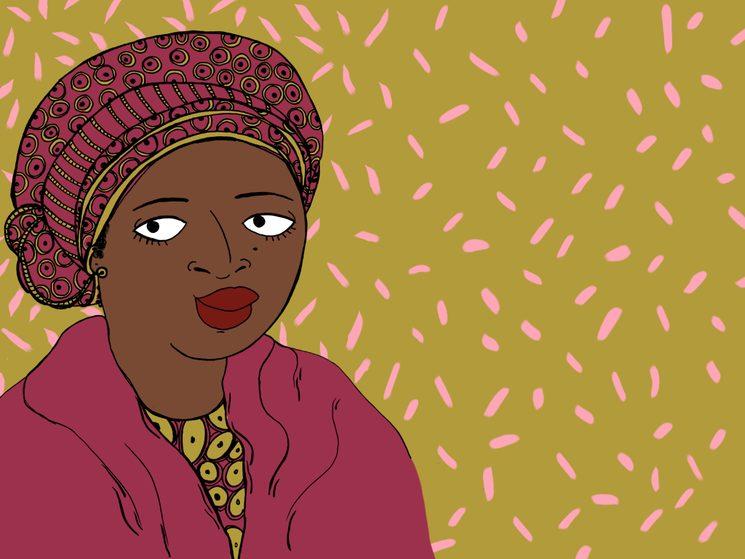 Fatima Akilu, Directora Ejecutiva de Neem Foundation contra la inseguridad en Nigeria. Ilustración: Sara Fratini